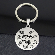 Cute Teacher Keychain 2019 Newest Stainless Steel Disc llavero Jewelry Best Souvenir Gift for Teachers YP6800