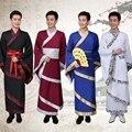 Многослойные Мужчины Китайский Длинный Халат Dress Древний Национальный Династии Цин Одежда для Сцены Китайский Традиционный Тан Костюм Мужской 89