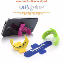 Universal One Touch Silicone Stand Finger Rings Mini Portable Phone Holder For iPhone 7 6 5S Samsung LANZERO Tablet Stand