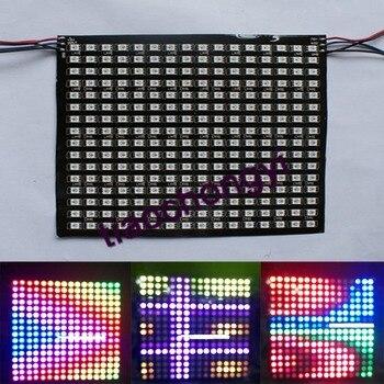 16*16 256 LEDs WS2811 WS2812B 5050 RGBดิจิตอลพิกเซลดิ้นแผงแอดเดรส5โวลต์