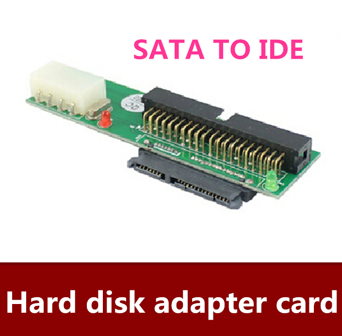 5pcs/lot  Flat plug type SATA to IDE hard disk adapter card SATA TO IDE serial to parallel port JM20330 chip  Free shipping compactflash cf card to ide hard disk adapter card ide 40
