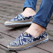 De alta Calidad Zapatos de Lona De Los Hombres de Moda Transpirable Casual Zapatos con cordones de Los Holgazanes de Conducción Pisos Nuevos Alpargatas 39-44 3 colores