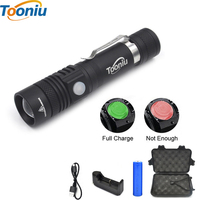 High Quality CREE Q5 XML T6 3800lm Waterproof 3 Modes Mini LED Flashlight Adjustable Focus Zoomable