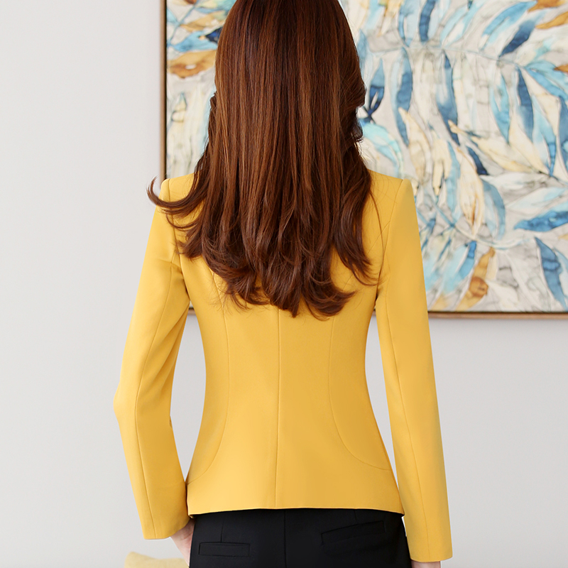 Lenshin High quality Blazer Straight and Smooth Jacket Office Lady Style Coat Business Formal Wear Candy