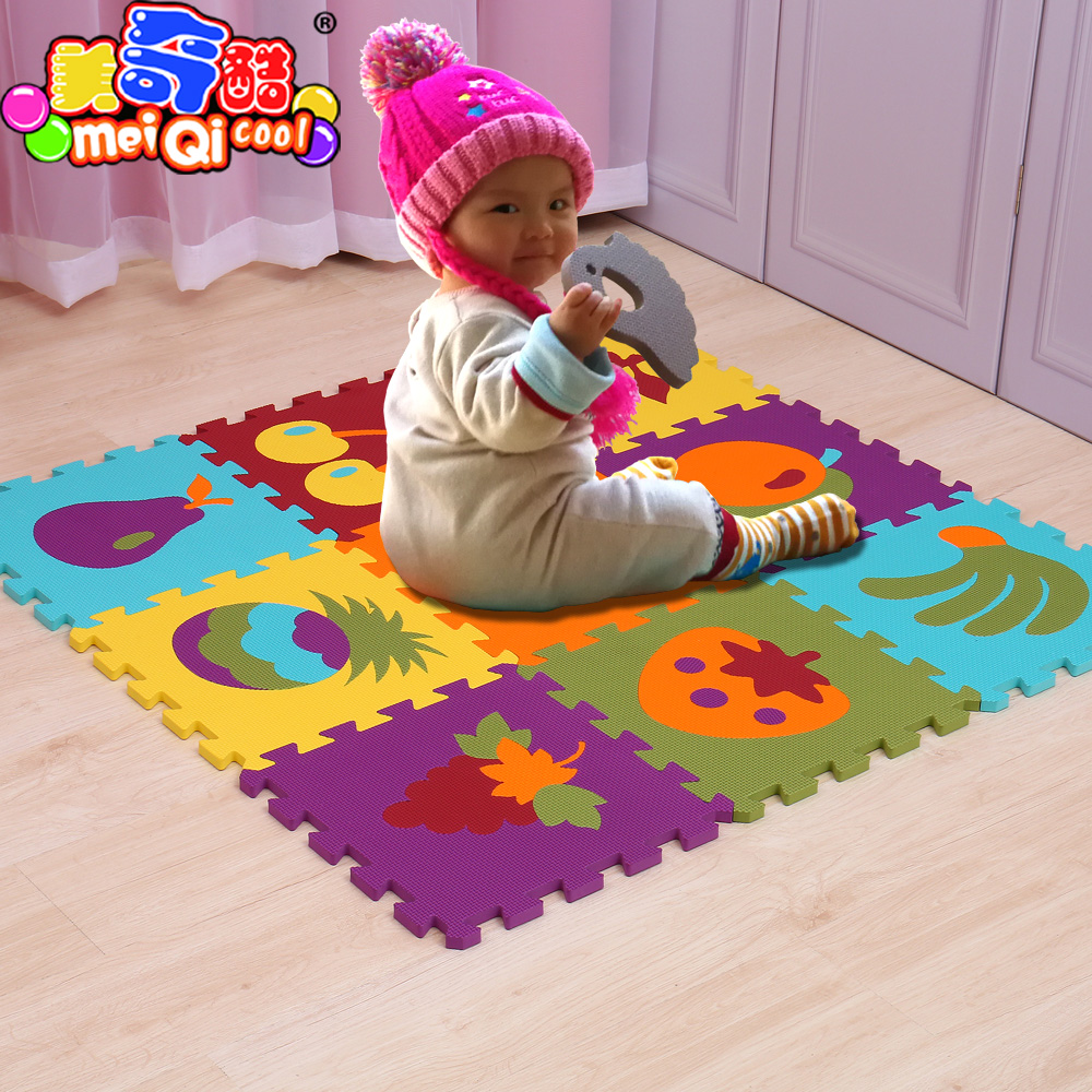 MEI QI COOL Safe EVA Foam Puzzle Mat FRUITs Childrens Play Mat 30*30*1.0cm Soft Interlocking Floor Mat gym exercise mat ...