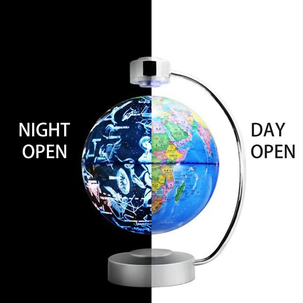 8 pouces Magnétique Globe de lévitation Avec lumière led Électronique Flottant Globe pour Enfant À Domicile Chambre Étude Plug UA