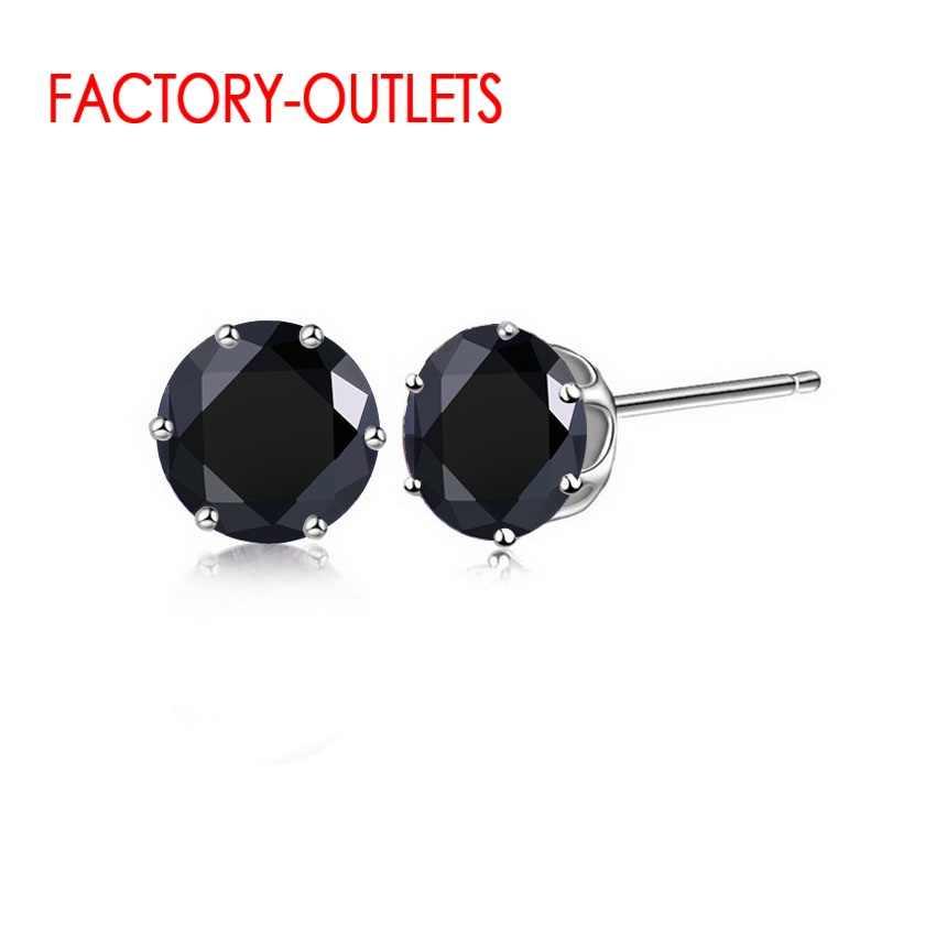 New Arrival fabryka tanie cena 925 Sterling Silver koreański styl moda biżuteria stadniny kolczyki Shinny kryształ szybka wysyłka