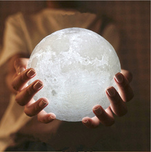 Moon Light,Glowing Moon Globe Light, 3D Glowing Moon Lamp With Stand, Luna Moon Lamp with 3 Colors(Cool/Warm White&Yellow)