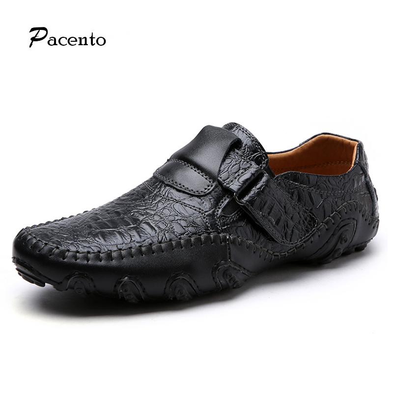 PACENTO 2017 Big Size 12 Shoe Mens Genuine Leather High Quality Men Shoes Soft Moccasins Loafers Casual Slip on Sapato Masculino cbjsho brand men shoes 2017 new genuine leather moccasins comfortable men loafers luxury men s flats men casual shoes
