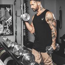 Summer New Men Gyms Stringer Tank Tops Male Bodybuilding Fitness Man Streetwear Undershirt Cotton Male Clothes Plus Size Vest