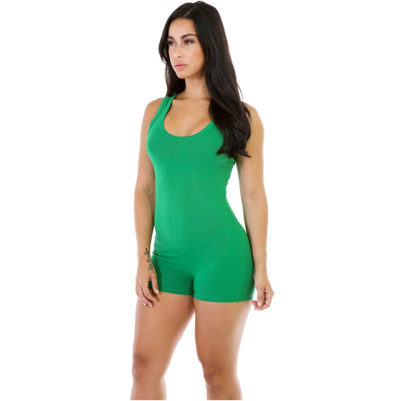 Summer Women Sexy Rompers Playsuits Skinny Sleeveless Round Neck Solid One  Piece Shorts Bodysuit S XL-in Rompers from Women s Clothing on  Aliexpress.com ... f9889659a