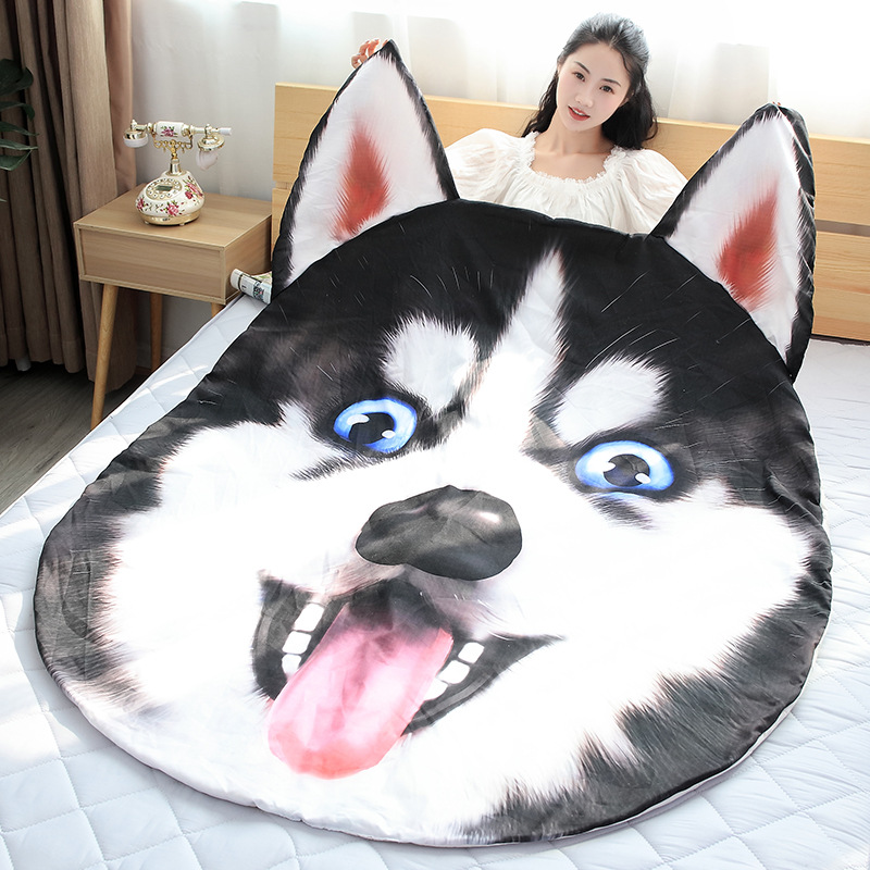 Creative Dog Plush Toys Stuffed Animal Doll Husky Air Conditioner Pillow Quilt Lovely Dog Pet Christmas Gift for Children