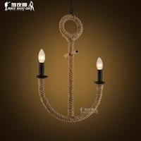 American pastoral Vintage chandelier rope Nordic Mediterranean restaurant cafe bar clothing store lighting