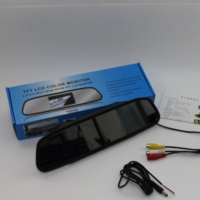 Para Audi A6 S6 RS6 C5 MK5 Espelho Retrovisor Do Carro Monitor de Tela de Exibição/4.3 polegada/HD TFT LCD PAL NTSC TV a Cores do Sistema de Segurança