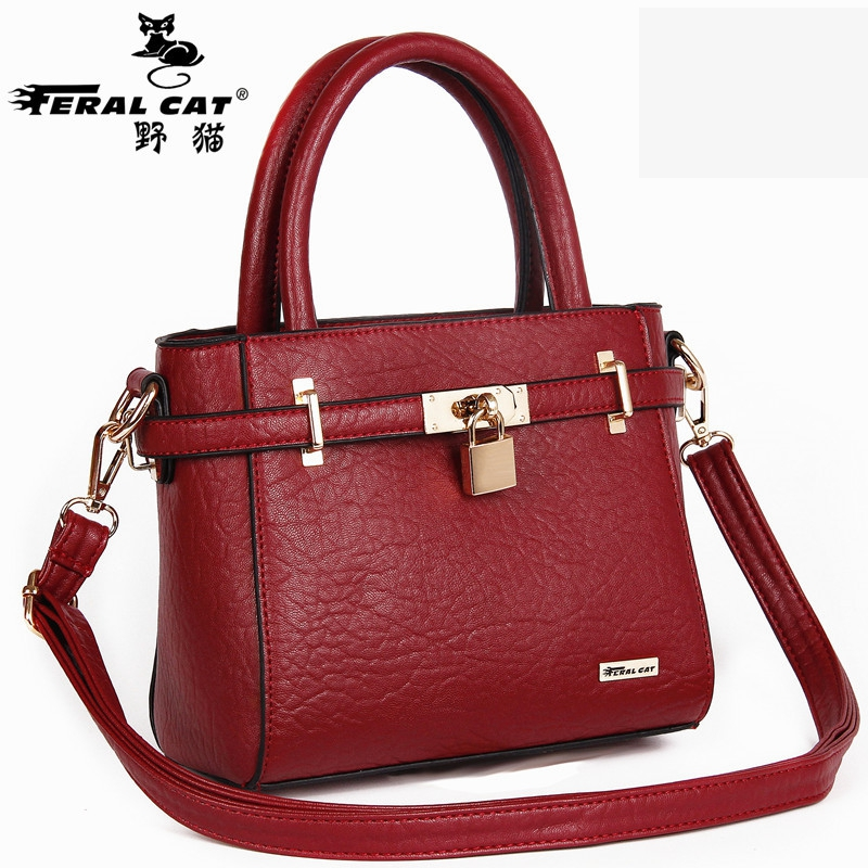FERAL CAT 2018 New Arrival Soft PU Leather Fashion Crossbody Bags Women Handbags Female Handbag Trend Bag Bolsas Ladies Handbags aetoo 2017 new arrival oil wax genuine leather women handbags fashion embossed crossbody bags female handbag trend bag bolsas