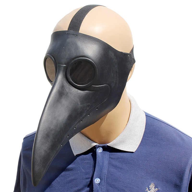 The Plague Doctor Steampunk Bird Latex Party Mask Halloween Costume Props Cosplay Masks Adult