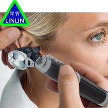 LINLIN Medical Otoscopio Diagnositc Kit Ear Care Pocket Portable LED Otoscope Diagnostic Set with 8 Tips ear detection