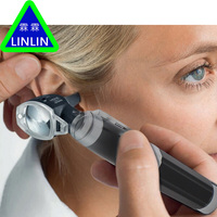 LINLIN Medical Otoscopio Diagnositc Kit Ear Care Pocket Portable LED Otoscope Diagnostic Set with 8 Tips ear detection