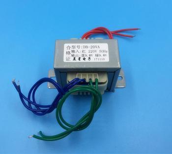 Transformador de 9,8 V 0.8A 9,8 V 0.8A 20VA 220V transformador de potencia de entrada EI57 fuente de alimentación AIRE ACONDICIONADO Central transfo