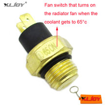 XLJOY M16 ATV Radiator Thermal Cooling Fan Switch For 250cc Water Cooled Quad 4 Wheeler Scooter Moped Motorcycle Parts(China)