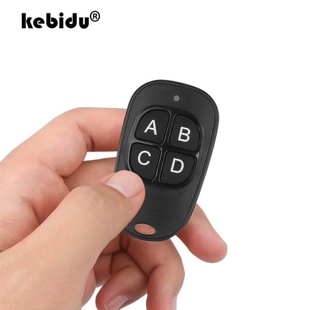 Kebidu 4 bouton porte ouvre porte de Garage télécommande 433MHZ Code roulant haute sensibilité large gamme efficacité