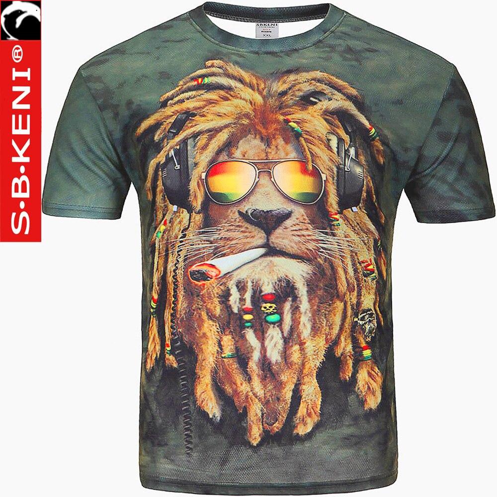 Top Tees Men/Women Summer Tops Fashion Print Lion Female T-Shirt Casual Shirt Brand T Shirt Funny Men's Tee Shirts Tshirt Men