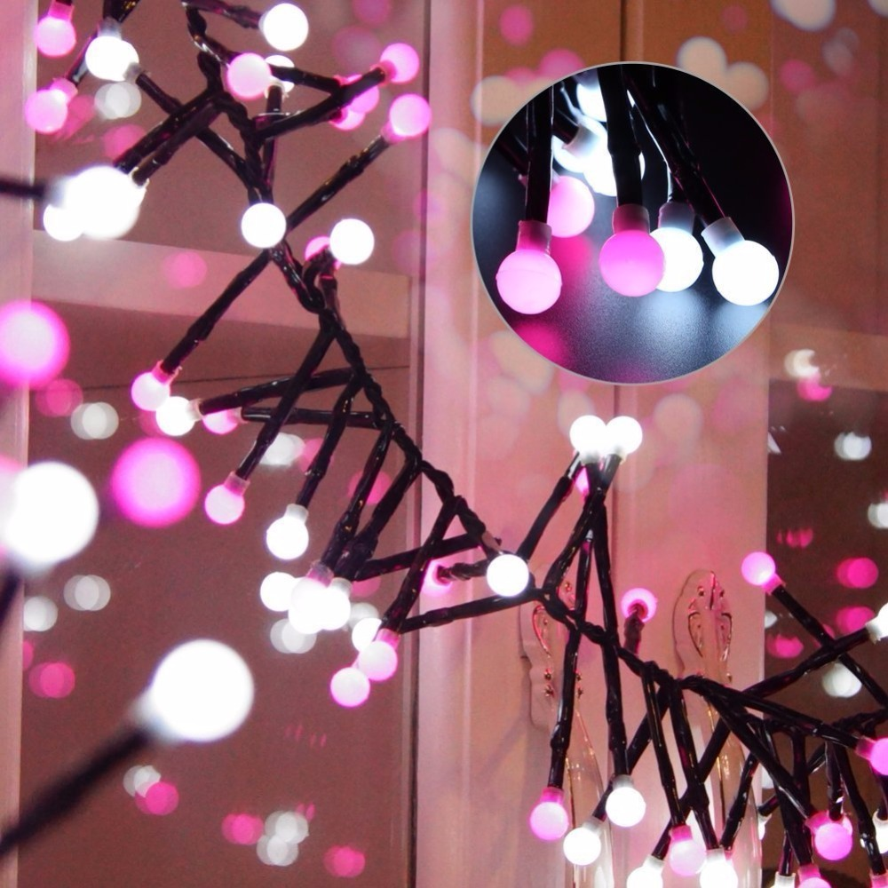 9.84Ft Globe String Light, Fairy Starry Light, Indoor Outdoor Decorative Ball String Lights for Wedding Christmas globe fairy string bulb lights for indoor outdoor wedding christmas xmas thanksgiving party events home roof decor colorful