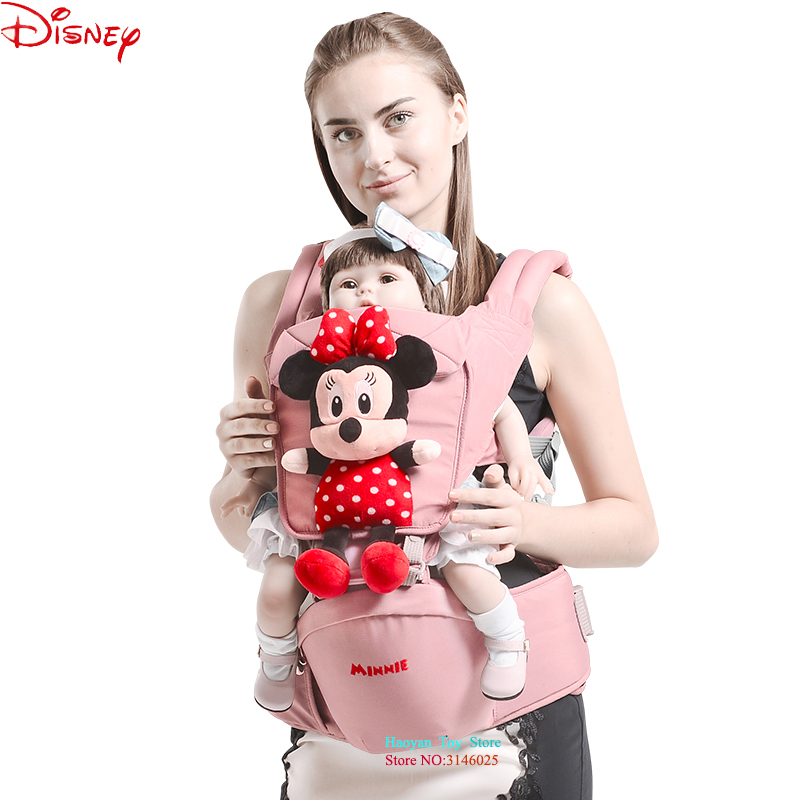 Disney Mickey Cartoon 0-36 Month Breathable Front Facing Baby Carrier Infant Comfortable Sling Backpack Pouch Wrap Baby Carriers disney baby carrier front facing infant breathable comfortable sling mickey minnie backpack toddler detachable carrier