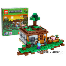 Lepin Model building kits compatible with lego 21115 my worlds MineCraft The first night Educational font