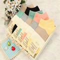 10 pairs New Casual Striped high quality Winter Rhombus design media corta socking cotton girl women sock #1523