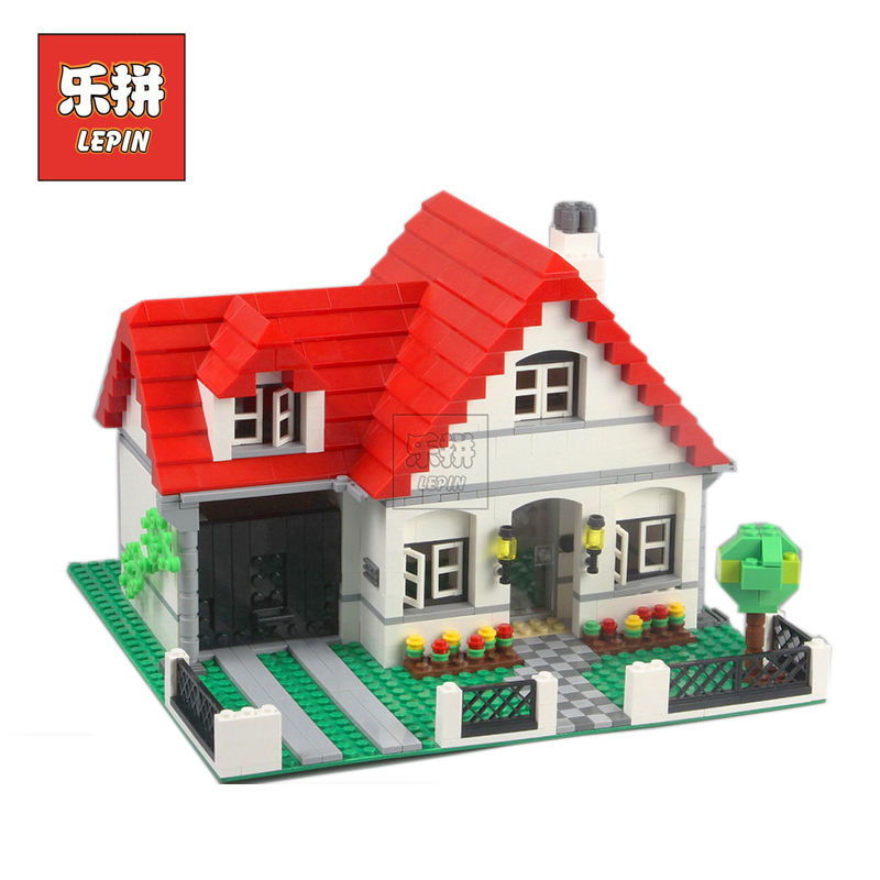 Lepin 24027 Creative Series Castle the American Style House DIY Set Model Building Blocks Bricks Children Toys Gift Lepin lepin 16017 castle series genuine the king s castle siege set children building blocks bricks educational toys model gifts