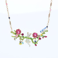 2017 Link Chain Animal Maxi Necklace Collier Collares New Enamel Kitten D Spring Paradise Play Kittens