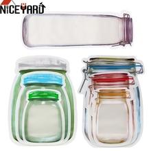 NICEYARD сумка для хранения на молнии, сумка для хранения, защищенная от запаха, с зажимом, для пищевых продуктов, пластиковая сумка для закусок, сумка с замком на молнии
