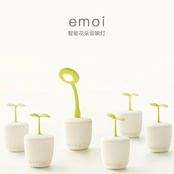 ФОТО original emoi Smart Flower lamp speaker with Power bank,Mini flower bluetooth speaker with LED adjustable light APP Speakerphone
