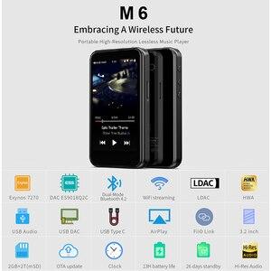 Image 2 - FiiO M6 Hi Res Bluetooth HiFi Music Portable MP3 Player USB DAC ES9018Q2C Based Android with aptX HD LDAC WiFi Air Play DSD