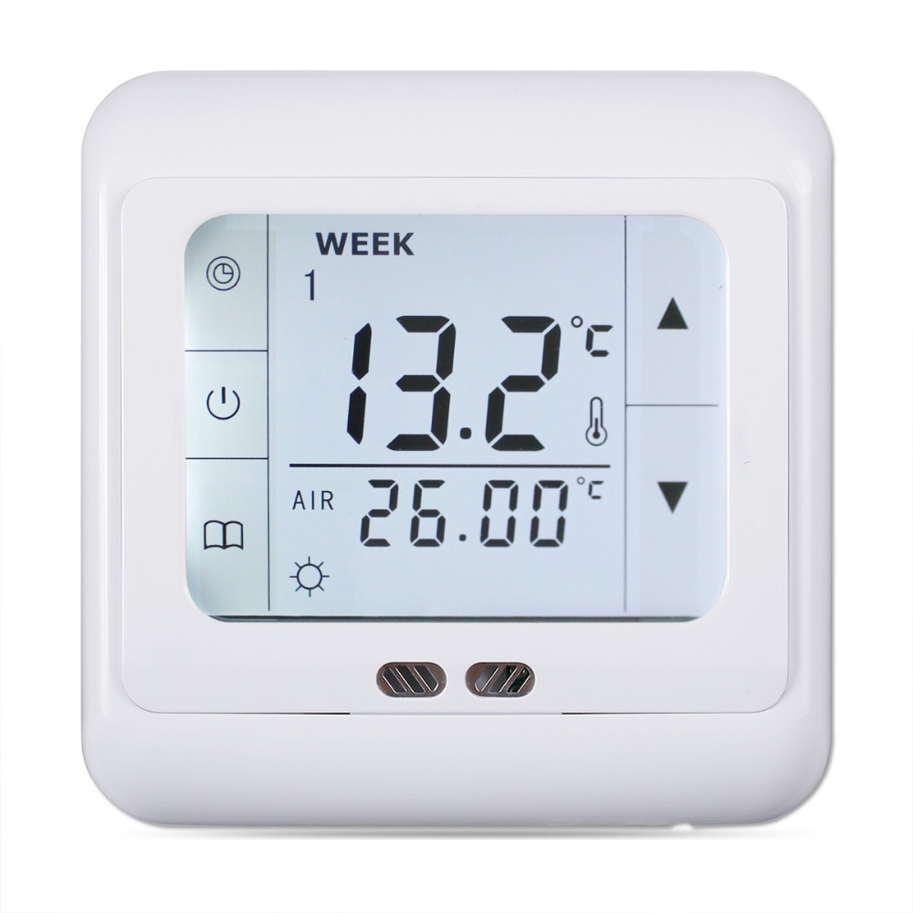 Heating Thermostat Us 15 74 26 Off Floureon 16a Touch Screen Thermostat Regulator Weekly Programmable Room Floor Heating Thermostat Home Temperature Controller In