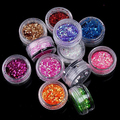 2016 12 Colors UV Gel Acrylic Glitter Nail Art Salon Sequins Powder Set Tips DIY Decorations 5VUK 7GUT AUAT