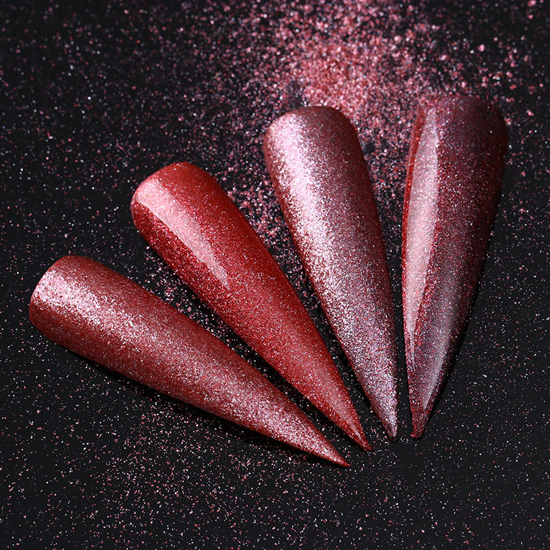 Rose Gold Nail Glitter Shimmer Powder Nail Art Dust Chrome Pigment Glitters Nailart Manicure Nail Dipping UV Gel Polish 1g