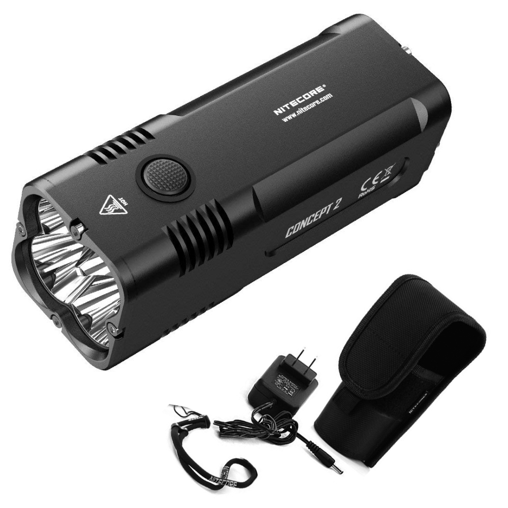 Free shipping 2018 NEW NITECORE Concept 2 C2 6500 Lumens 4 x CREE XHP35 HD Rechargeable Outdoor Camping Searching Flashlight
