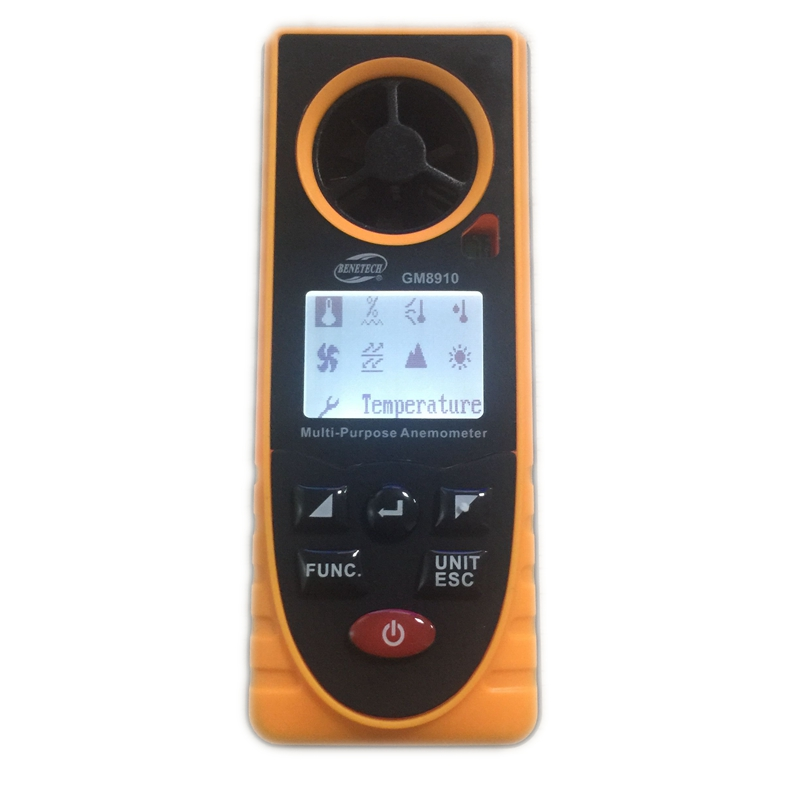8in1 LCD digitale Anemometro Pressione barometrica Umidità - Strumenti di misura - Fotografia 3