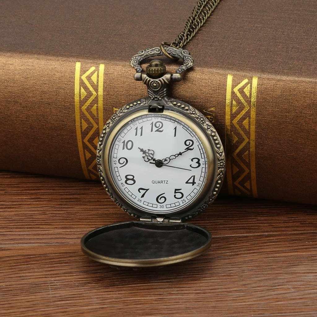 2019 reloj de bolsillo אישית דפוס Steampunk בציר קוורץ רומי ספרות Saat Relogio שעונים גברים Reloj שעון כיס