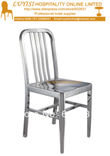 Stainless steel dining chair,fully assembled,polished finish,quick shipment
