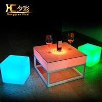 Hot Selling RGB Remote Control PE Luminous Furniture LED Bar Table Home Furniture LED Table