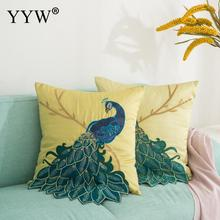 Creative Peacock Crafts Cushion Polyester Throw Pillow Case Triangular Art Pillowcase Office Bed Living Room