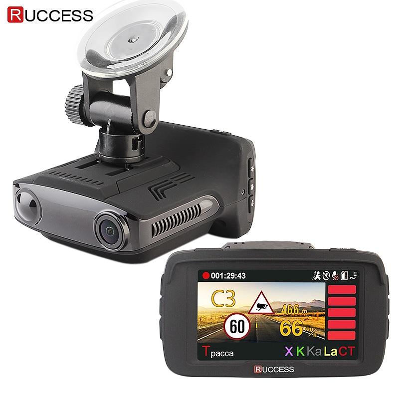 RUCCESS Ambarella A7LA50D DVR 3 in 1 Full HD 1080P Video Recorder Anti GPS Radar Detector