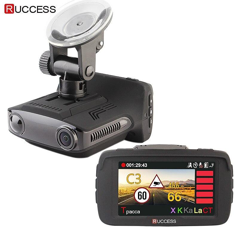 RUCCESS Ambarella A7LA50D DVR 3 in 1 Volle HD 1080 p Video Recorder Anti GPS Radar Detektor 1296 p Auto kamera Speedcam Nachtsicht