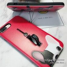 Собака для iPhone 5 5S SE 6 Plus 7 Plus чехол чехол, мягкий, из силиконового материала ТПУ PC кольцо стенд держатель телефонные чехлы для iPhone 6 6S 7 8 X Plus
