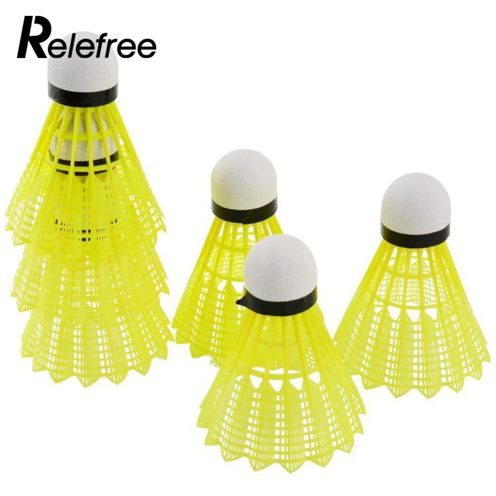 6Pcs Training Train Gym Fitness Nylon Shuttlecocks Birdies Badminton Ball Sport Plastic Durable Free shipping