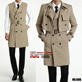 2017new arrival men Two piece set spring coat long coat Vest Jacket fashion high qualtiy casual plus size S-XL2XL3XL4XL6XL  688