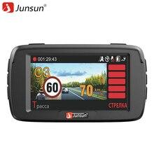 Junsun 3 en 1 DVR Coche Anti Radar Detector X/K/Ka/La/CT Ambarella A7LA50 GPS del Coche Grabadora de Vídeo Full HD Dash cam
